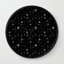 Stars and Swirls Wall Clock