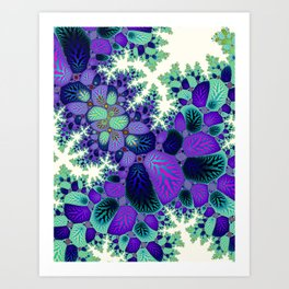 Leafy Nosegay Fractal Art Print