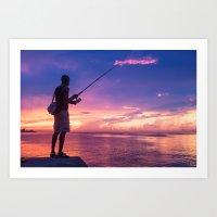 Fisherman #3 Art Print