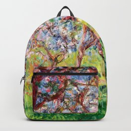 "Claude Monet ""Springtime at Giverny (Printemps à Giverny),"" Backpack"