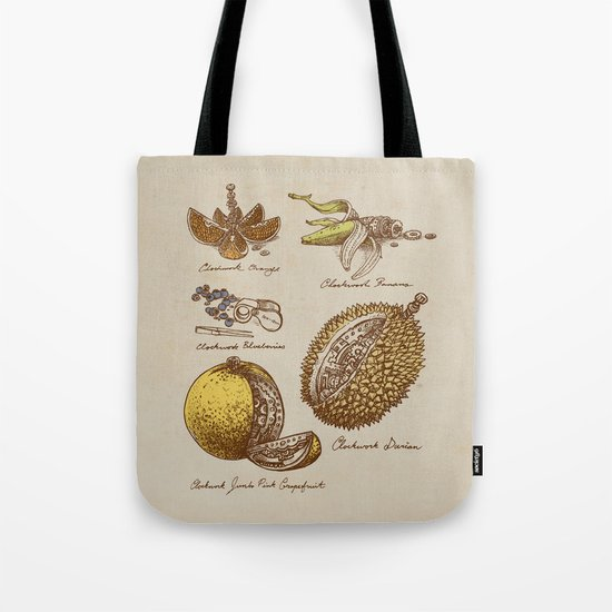 Steampunk Fruit  Tote Bag