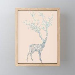 Blue Deer Framed Mini Art Print