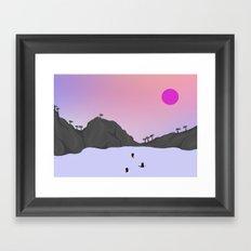 Sunset Fury Framed Art Print