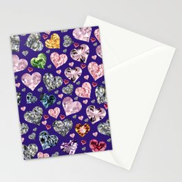 Heart Diamonds are Forever Love Violet Stationery Cards