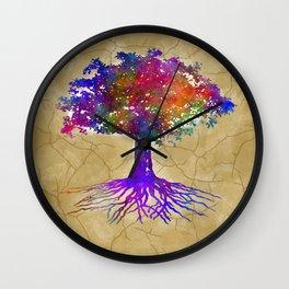 Tree Of Life Batik Print Wall Clock