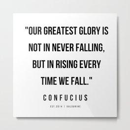 16  | Confucius Quotes | 200202 Metal Print