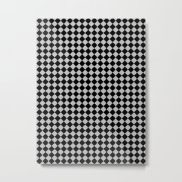 Black and Gray Diamonds Metal Print