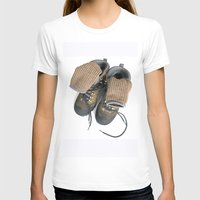 hiking T-shirts featuring Hiking Boots by Ann Horn