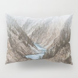 MOUNTAINS - RIVER - BLUE Pillow Sham