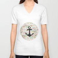 anchor V-neck T-shirts featuring Anchor by Berreca