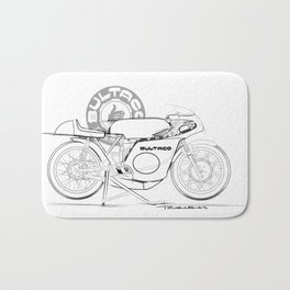 Bultaco Vintage Motorcycle Bath Mat