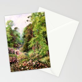 """Camille Pissarro """"Kew Gardens, Alley of Rhododendrons"""" Stationery Cards"""