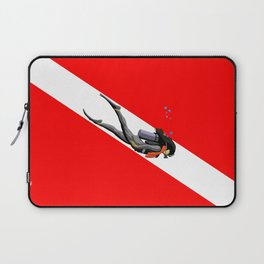 Diver And Dive Flag Laptop Sleeve