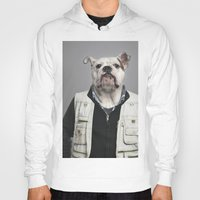 english bulldog Hoodies featuring English Bulldog Worker by Life on White Creative