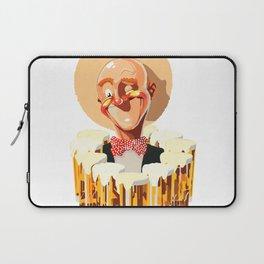 Happy bald man with beers Laptop Sleeve