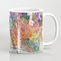 london map Mugs featuring London map  by mark ashkenazi