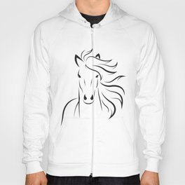 Vector of horse head design on white background. Easy editable layered vector illustration. Hoody