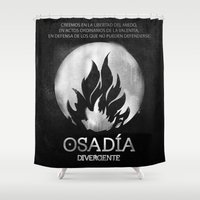 divergent Shower Curtains featuring Osadia by Diego Guzman
