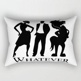 Man, Woman, Unicorn Rectangular Pillow