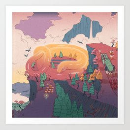 The creature of the mountain Art Print