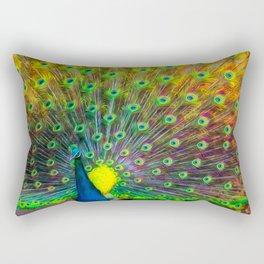 The Peacock Rectangular Pillow