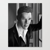 benedict Canvas Prints featuring Benedict  by nicolebrander