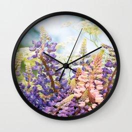 Summer Meadow Bouquet #decor #society6 #homedecor Wall Clock