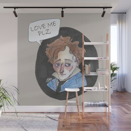 Giacomo Leopardi love me plz Wall Mural