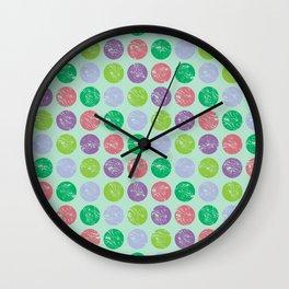 Coloured dots1 Wall Clock