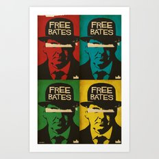 Free Mr. Bates Art Print