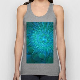 Floral in Sea Colors Unisex Tank Top