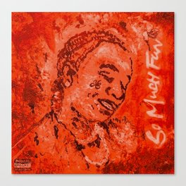 Thug,travis,so much fun,album,red,deluxe,thugger,music,rap,rapper,hiphop,lyrics,poster,art,painting, Canvas Print