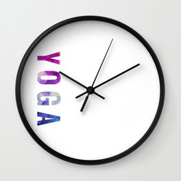 Yoga Bokeh Typography Wall Clock