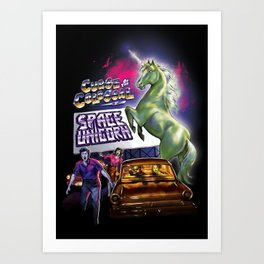 Curse of the Colossal Space Unicorn Art Print