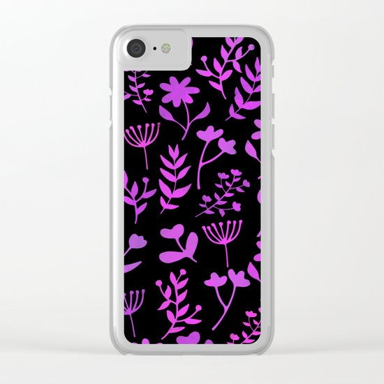 Lovely Pattern XII Clear iPhone Case