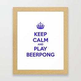 keep calm & play beerpong Framed Art Print