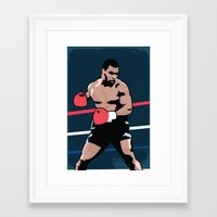 mike tyson Framed Art Prints featuring Mike Tyson Poster by Marco A. Valdez
