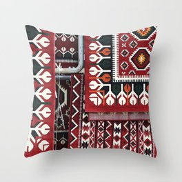 Arabic Woven Carpets Throw Pillow