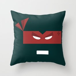 Red Turtle Throw Pillow