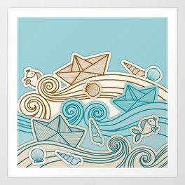 Beach fish sea Art Print