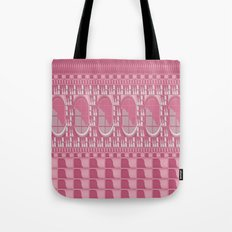 Rose Pink Geometric Abstract Tote Bag