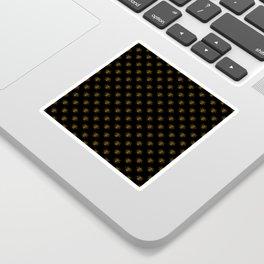 Foil Bees on Black Gold Metallic Faux Foil Photo-Effect Bees Sticker