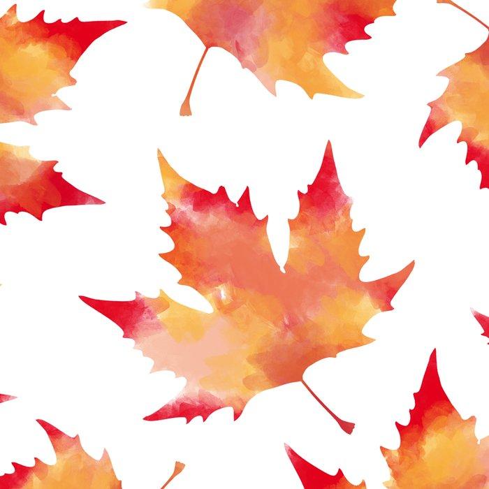 Maple leaves white Leggings