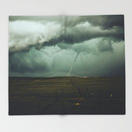 Tornado Alley (Color) Throw Blanket
