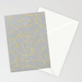 Ab Outline Gold and Grey Stationery Cards