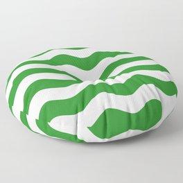Wavy Stripes (Forest Green/White) Floor Pillow