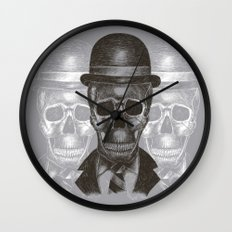 Worked To Death (Grey version) Wall Clock