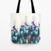 cities Tote Bags featuring Cold cities by HappyMelvin
