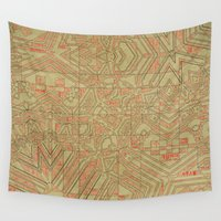 typo Wall Tapestries featuring Typo by Steve W Schwartz Art