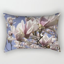 Magnolia Blossoms Shiver Against A Chill Wind Rectangular Pillow